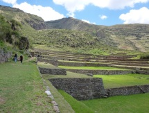some 7km closer to Cusco the Inca experimental agricultural terraces at Tipon are a work of beauty & skill